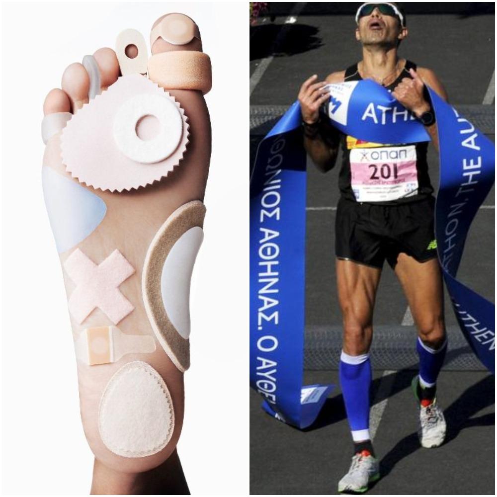 Marathon feet Collage